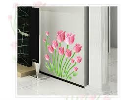 flowers princess love home decor mirror wall stickers diy bathroom