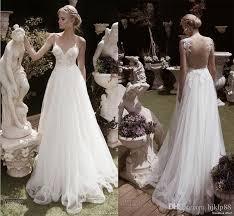 dh wedding dresses 2016 spaghetti backless wedding dresses tulle applique