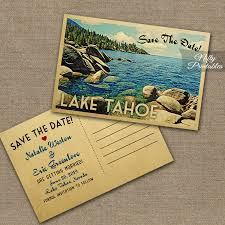 save the date postcard lake tahoe save the date postcards vintage destination