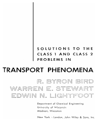 solution manual transport phenomena bird 1st edition