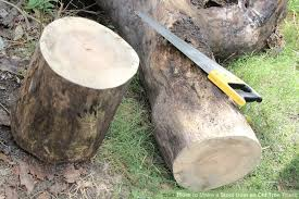 how to make a stool from an tree trunk 7 steps