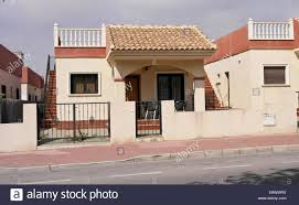 spanish house style old style spanish house in classic tile and stone build stock