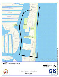 Intracoastal Waterway Map City Of Fort Lauderdale Fl Beach Cra Boundary Map