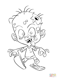 zombie child coloring free printable coloring pages