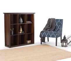 amazon com simpli home artisan medium 9 cube storage bookcase