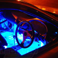 led lights for cars store amazon com ledglow 2pc 7 color led car truck underdash footwell