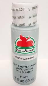apple barrel 21392e granite gray acrylic paint 2fl oz plaid color