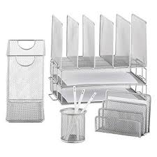 Desk Organizer White Desk Organizers Desk Accessories Desktop Pencil Holders The