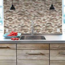 stick on kitchen backsplash tile backsplashes tile the home depot