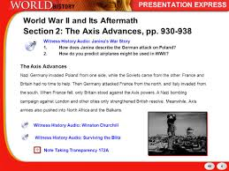 history of the modern world world at war allies on the defensive