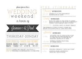 wedding itinerary for guests wedding itinerary template formal weekend for guests their sounds