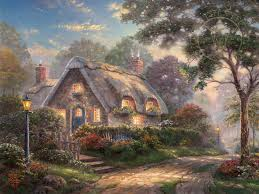 cottages paintings kinkade gallery