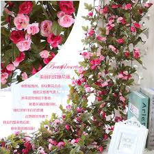 Imitation Plants Home Decoration Aliexpress Com Buy Artificial Flowers Diy Rose Flower Vine