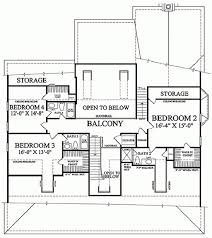 dimensioned floor plan colonial style house plan 4 beds 4 5 baths 4298 sq ft plan 137