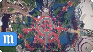 Disney World Parks Map Mcmagic Disney World Theme Park In Minecraft Youtube