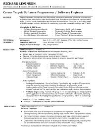 Sample Profile Resume by Software Engineer Resume Sample Profile U0026 Technical Summary