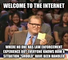 Internet Police Meme - thin blue line of faulty logic altar throne