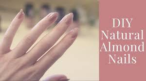 diy natural almond nails cheap no salon the apres gal youtube