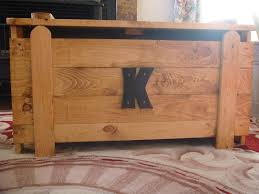 wooden toy box blanket chest with monogram