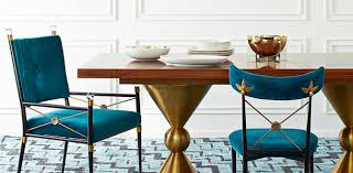 Teal Dining Table Modern Rectangle And Round Dining Room Tables Jonathan Adler