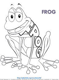 wordworld printable coloring pages frog pbskids