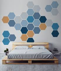 removable honeycomb wall decal 6 hexagon stickers per pack zoom