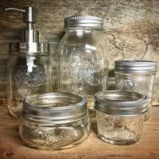 Mason Jar Bathroom Storage by Bathroom Decor