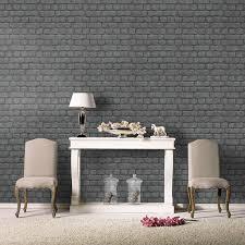 rasch wallpaper grey brick effect wallpaper suitable for any room ebay