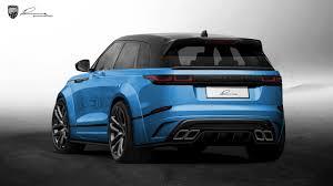 blue range rover lumma clr gt basis range rover velar modcarmag