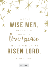 like the wise men we can give gifts of love and peace as
