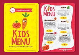 snack bar menu template menu free vector 7855 free downloads