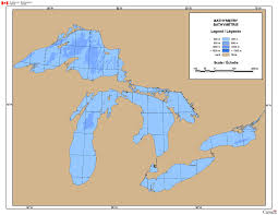 Map Of Great Lakes Great Lakes Water Depth Map Canada Ca