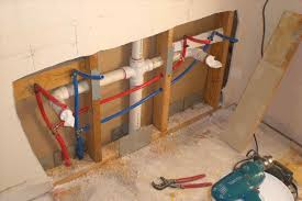pex bathroom plumbing water lines shower valve installation