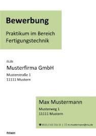Praktikum Vorlage Deckblatt Bewerbung Praktikum Kostenlose Muster Vorlagen