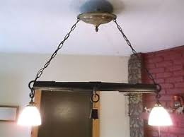 Primitive Hanging Light And Vanity Light Wood Metal With 3 Punched