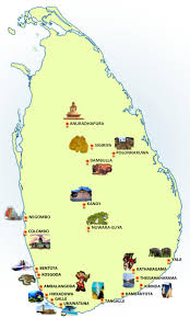 Map Of Sri Lanka Sri Lanka Travel Directory
