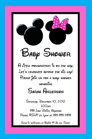 mickey and minnie mouse inspired baby shower invitation