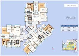floor plan vasant oasis an residential project at mumbai