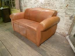 Leather Club Sofa Moustache Backed Leather Club Sofa Bed 1 Vintage Creation