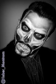 perfect skull halloween make up for guys halloween makeup