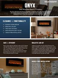 amazon com touchstone 80001 onyx wall mounted electric fireplace