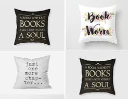 Home Decor Gift Book Related Cushions Gift For Book Lover Id625 Home Decor Gifts