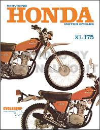1973 1978 honda xl175 motorcycle repair shop manual cycleserv