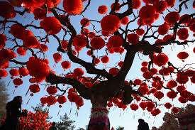 New Year Ornaments Craft Decorating Creative Outdoor New Year Decoration Tree With