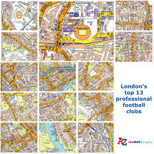 Surprise Arizona Map by London Football Clubs A Z Maps