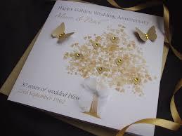 personalised handmade golden wedding anniversary cardspink posh