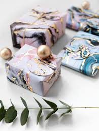 marble wrapping paper creative gift wrapping with scotch