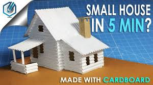 a small cardboard house with dimensions how to make youtube