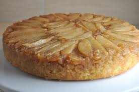 impeccable taste pear and cardamom upside down cake