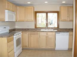 White Kitchen Dark Island Cabinet Doors Simple Wooden Countertops Backsplash Color